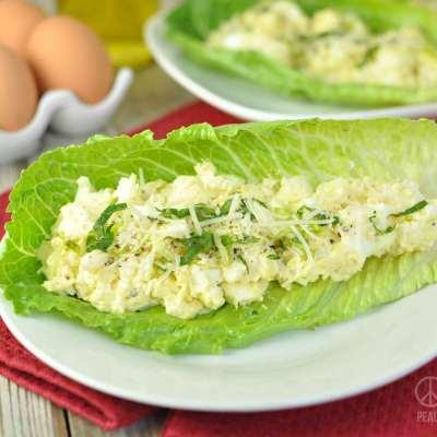 Caesar Egg Salad Lettuce Wraps – Low Carb, Gluten Free