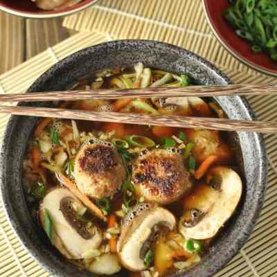 Easy Peasy Wonton-less Soup – Paleo, Low Carb, Gluten Free