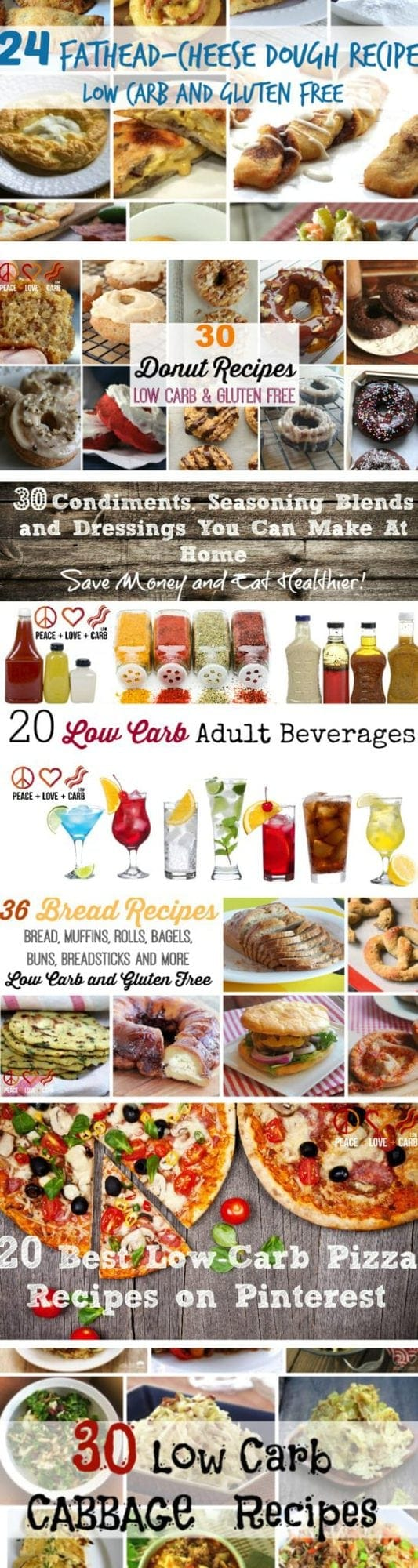 The Great Low Carb Carb Round Up of Round Ups   Peace Love and Low Carb