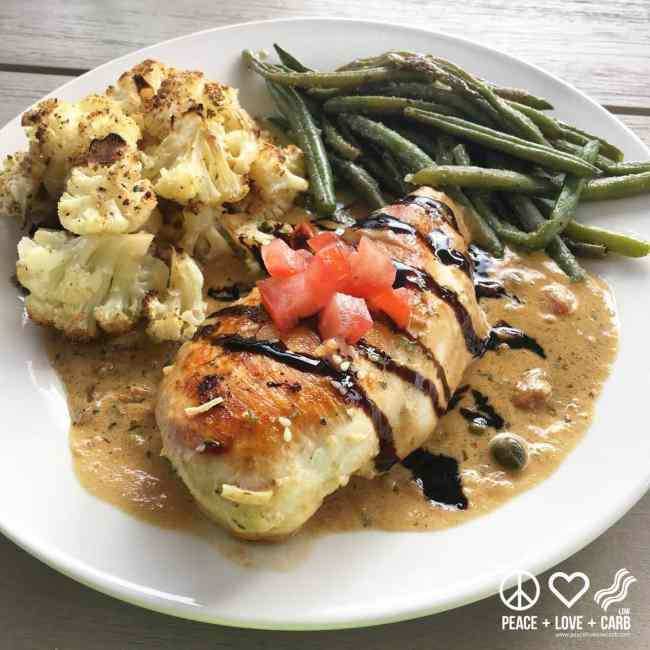 Chicken with Creamy Lemon Caper Pan Sauce   Peace Love and Low Carb