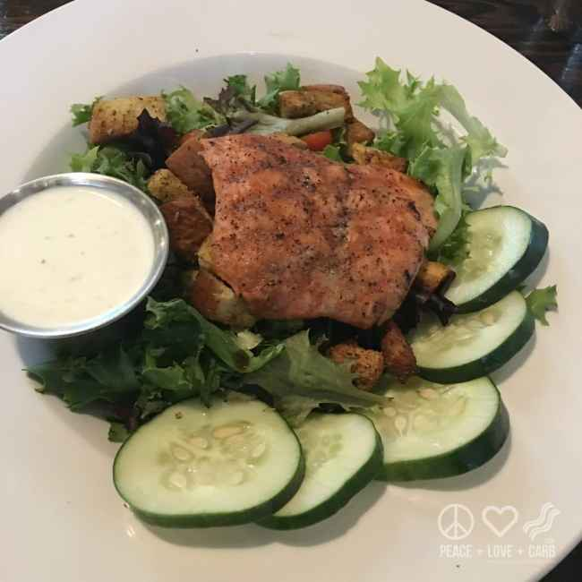 Green Salad with Seared Steelhead   Peace Love and Low Carb