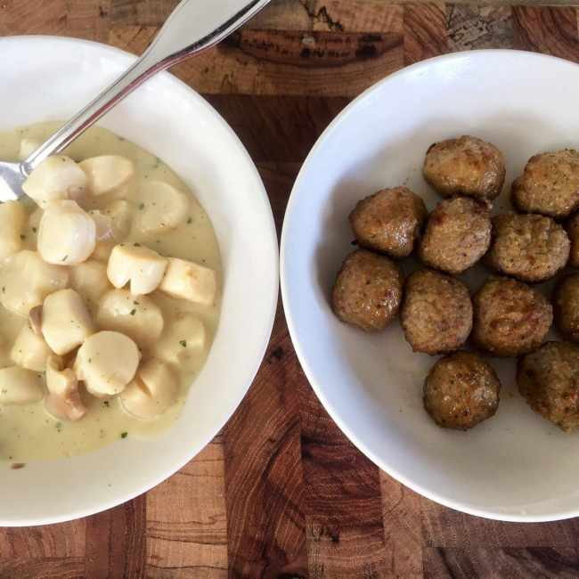 Creamy Scallops and Meatballs   Peace Love and Low Carb