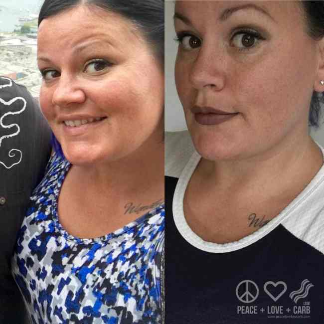 One Week Difference Before and After   Peace Love and Low Carb