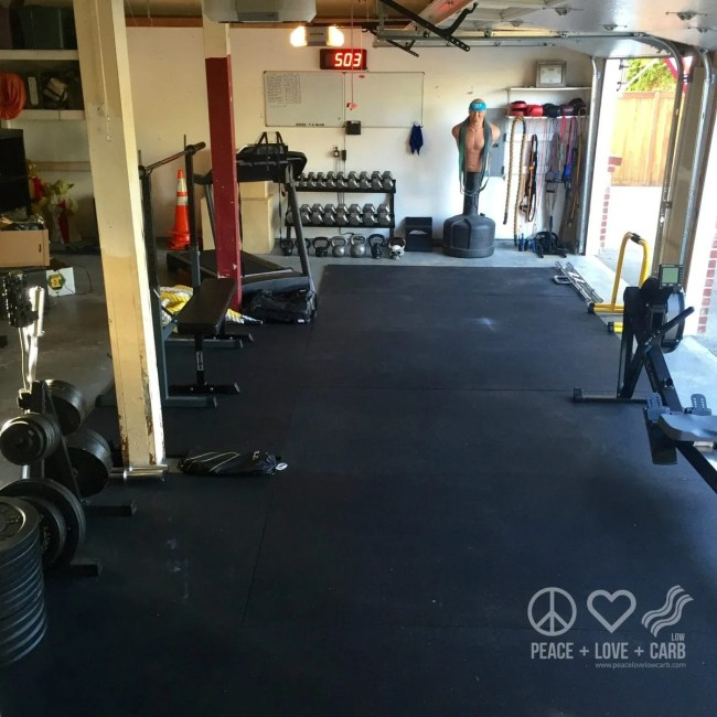 Our Garage Home Gym   Peace Love and Low Carb