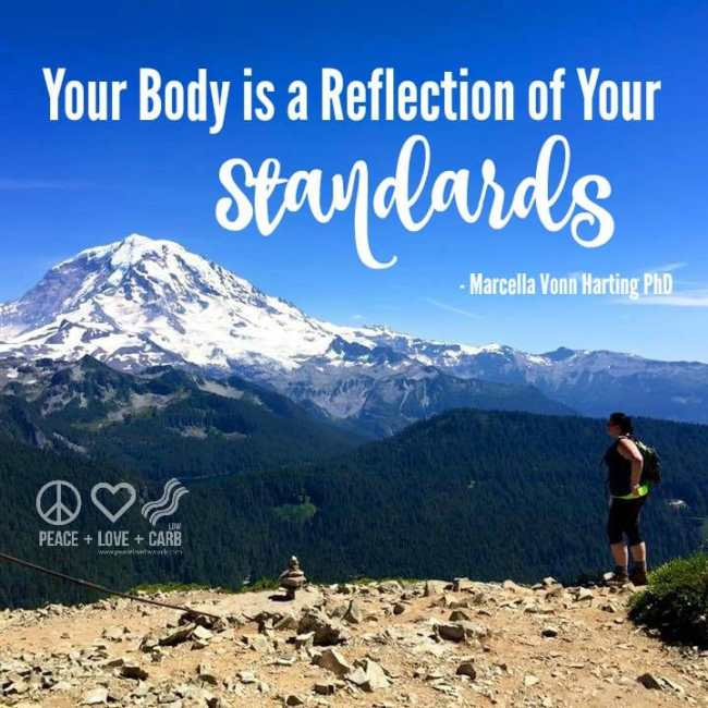 Your Body is a Reflection of Your Standards | Peace Love and Low Carb