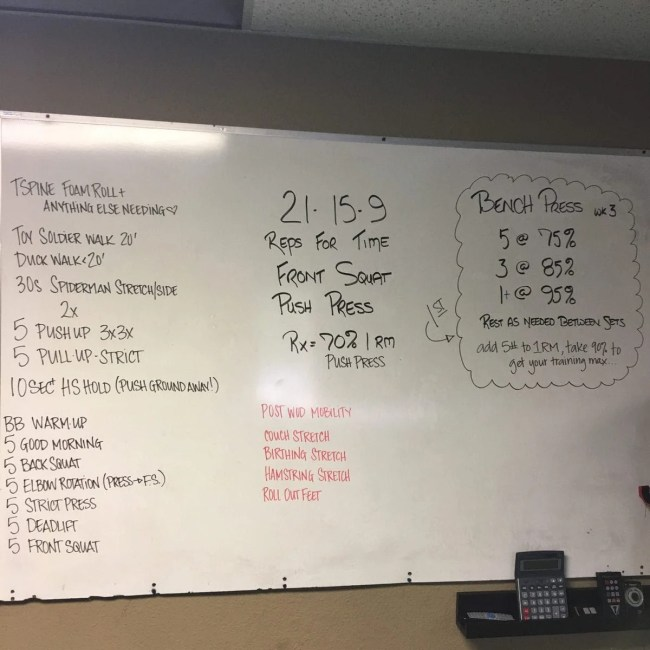Friday Workout | Crossfit | Peace Love and Low Carb