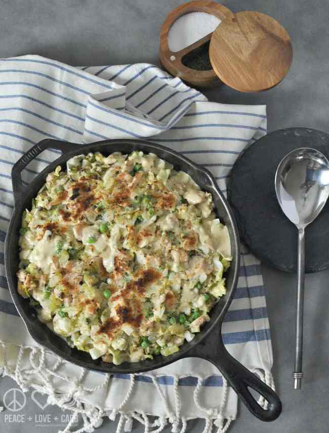 Cabbage Noodle Tuna Casserole - Low Carb, Gluten Free | Peace Love and Low Carb
