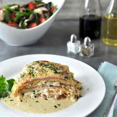 Chicken Cordon Bleu Lasagna – Low Carb, Gluten Free