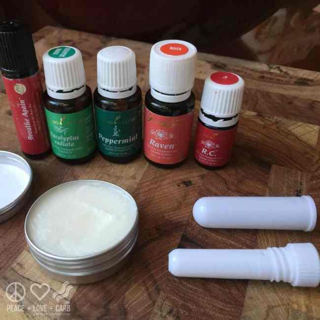 DIY Nasal Inhaler Sticks | Peace Love and Low Carb