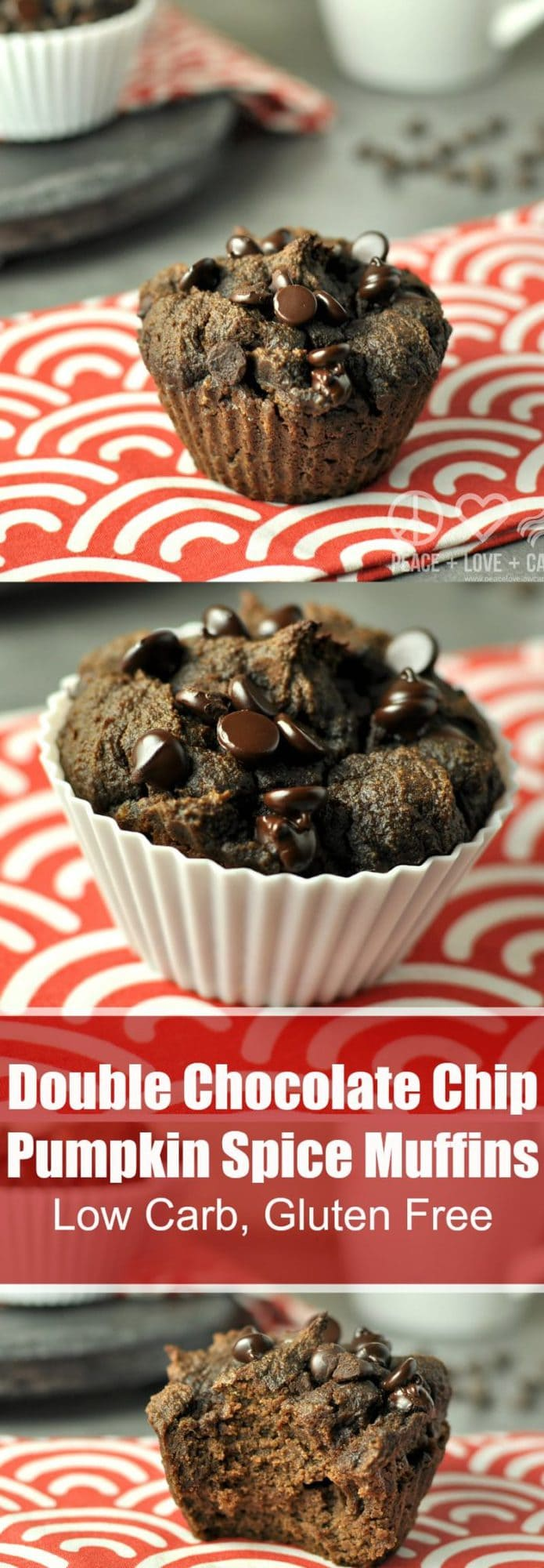 Double Chocolate Chip Pumpkin Spice Muffins - Low Carb, Gluten ...
