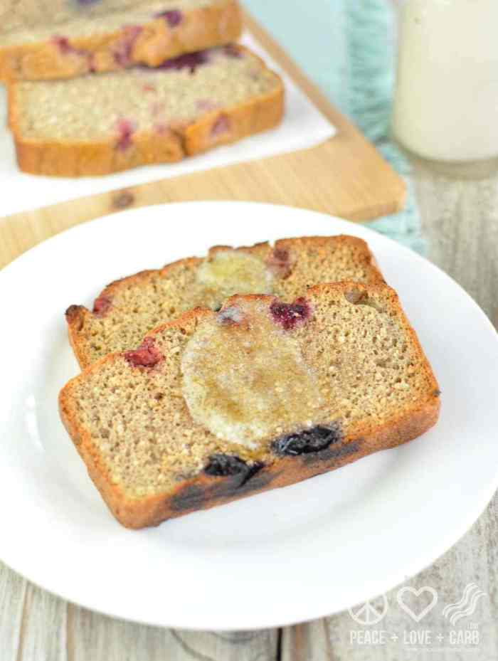 Peanut Butter Berry Breakfast Loaf | Peace Love and Low Carb