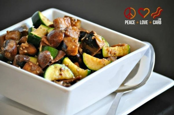 Roasted Mushrooms, Zucchini and Eggplant with Rosemary - Low Carb, Paleo, Whole30