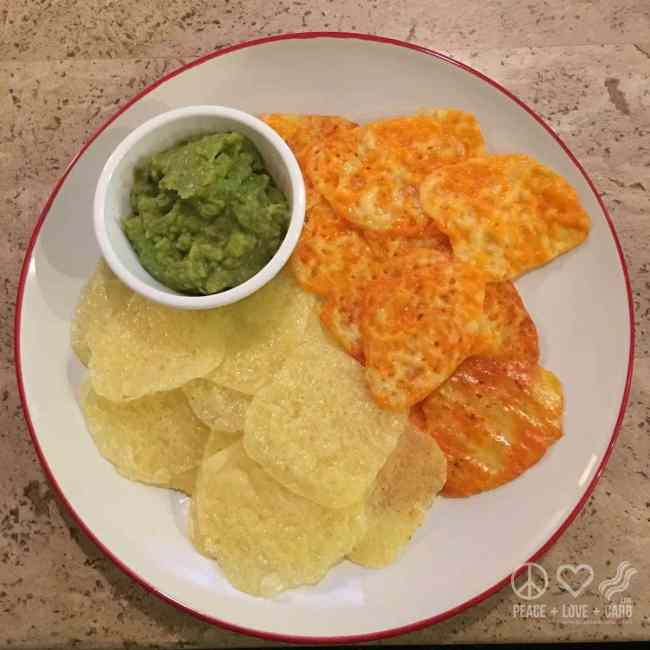 Cheese Chips and Guacamole | Peace Love and Low Carb