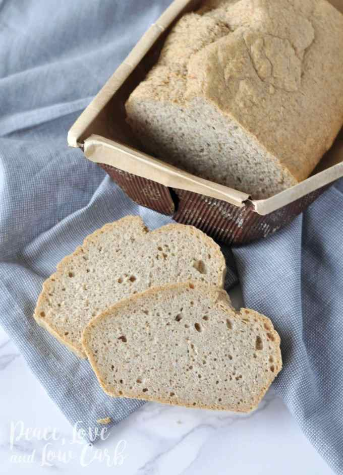 Fresh Baked Low Carb and Gluten Free Bread | Peace Love and Low Carb