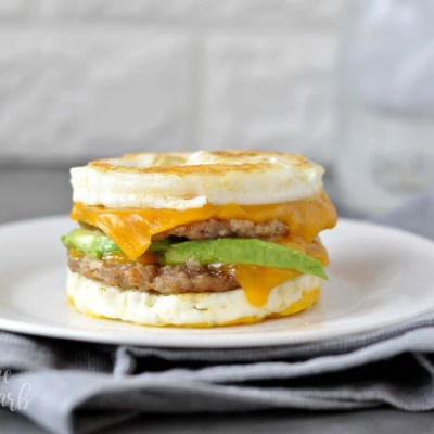 Keto Sausage and Egg Breakfast Sandwich