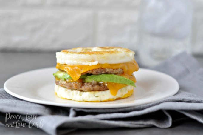 Keto McMuffin Sausage and Egg Breakfast Sandwich