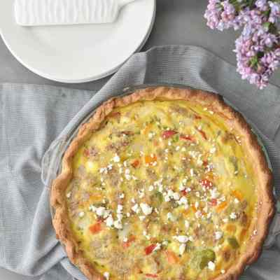 Low Carb Angel Biscuits and Sausage and Vegetable Quiche Recipe