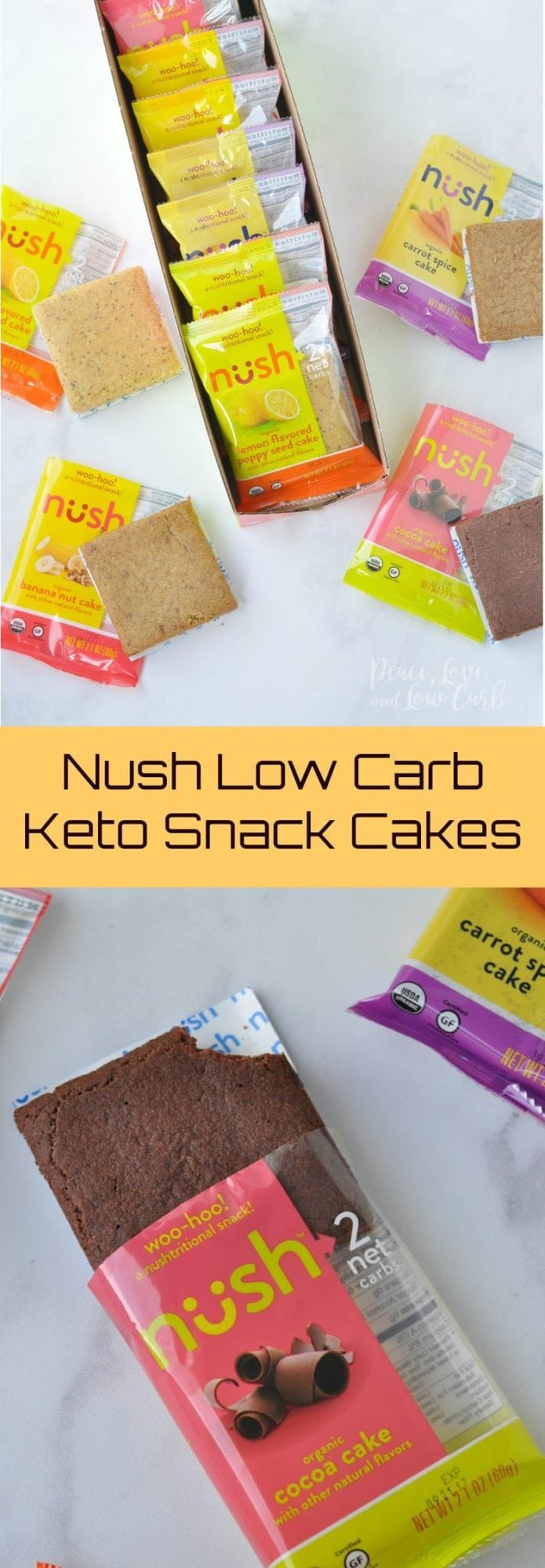 Nush Low Carb Keto Snack Cakes - Peace Love and Low Carb
