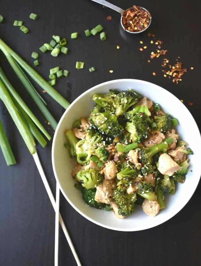 One Pot Keto Sesame Chicken and Broccoli | Peace Love and Low Carb