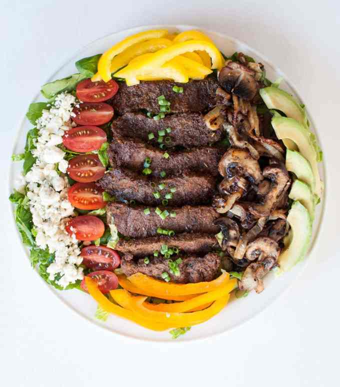Blackened Steak Salad | Peace Love and Low Carb
