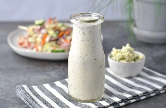 Creamy Chive Keto Blue Cheese Dressing Peace Love And