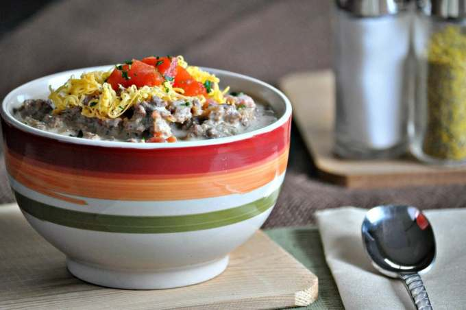Keto Bacon Cheeseburger Soup   Peace Love and Low Carb