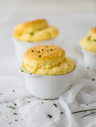 Cheese and Chive Keto Souffles | Peace Love and Low Carb