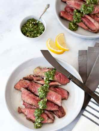 This Flat Iron Steak with Horseradish Gremolata is juicy, herbaceous and packed with flavor while still being keto, paleo, and whole30 approved.