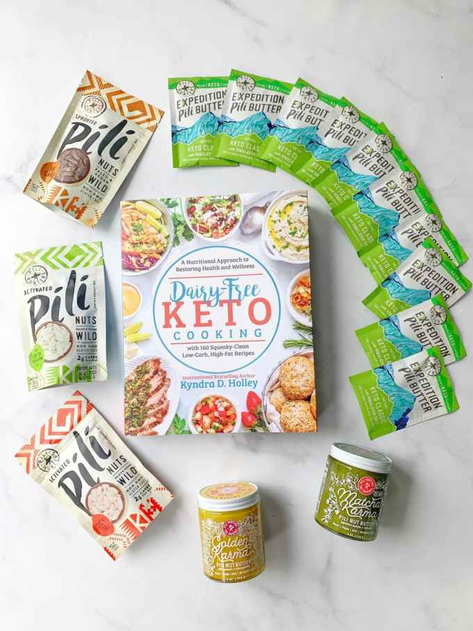 Dairy Free Keto Cooking GIVEAWAY Extravaganza - 11 Weeks of giveaways for the launch of my new book. Pili Nuts