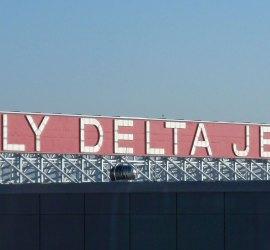 Fly Delta Jets sign