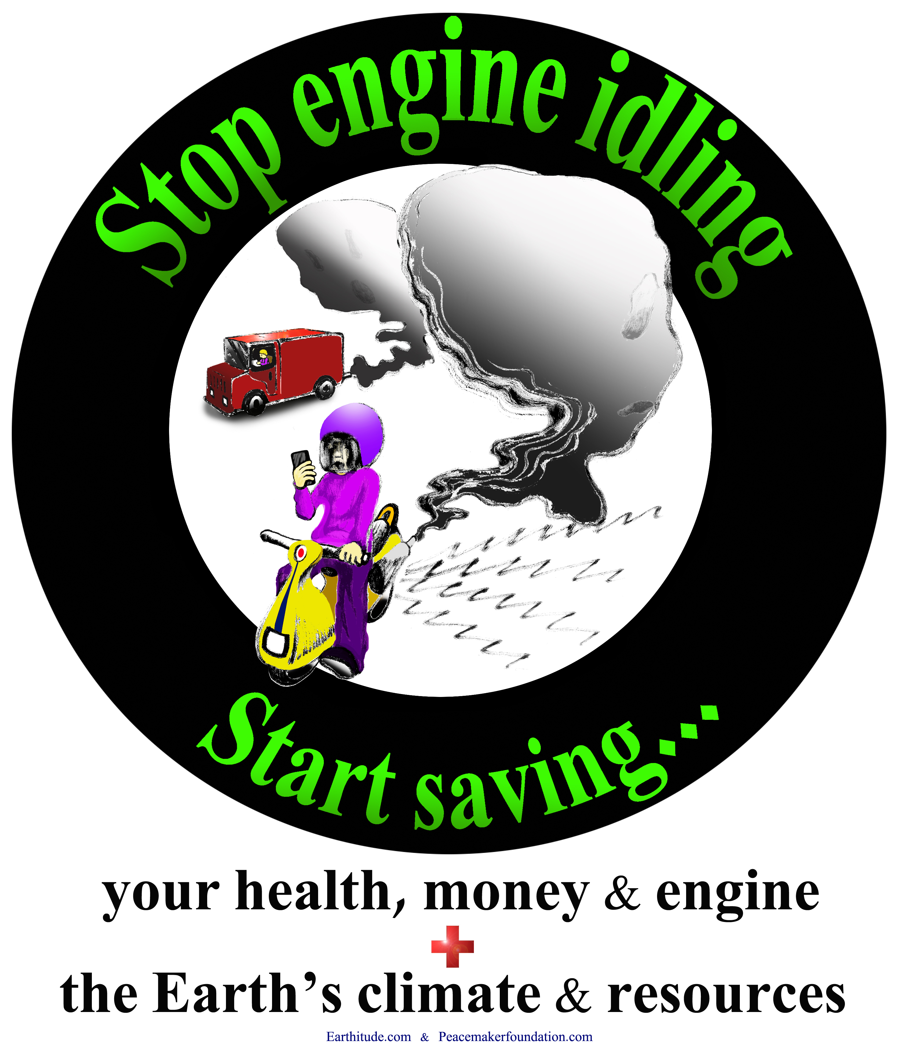 Engine Idling Posters