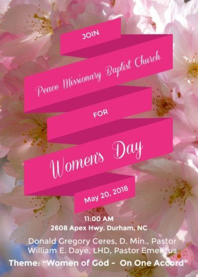 Women's Day 2018 at Peace Missionary Baptist