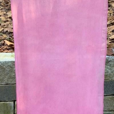 silk chiffon scarf | cochineal