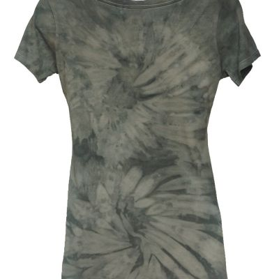 Bamboo Scoop neck with Peace Please and double swirl