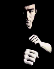 Bruce Lee image - Peace in strength