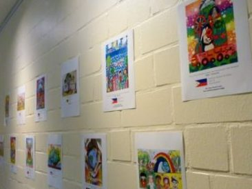2016 Peace Pals International artwork displayed at FABI Center in Celle, GERMANY