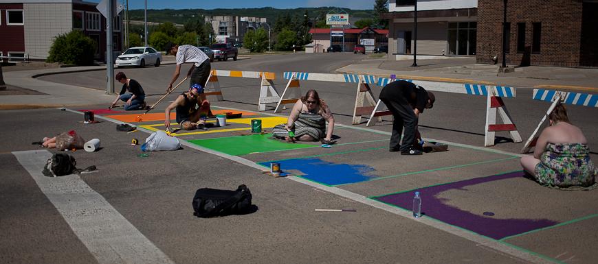 Painting Crosswalk