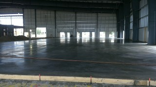 The newly poured floor of the Canadian Natural Fieldhouse.