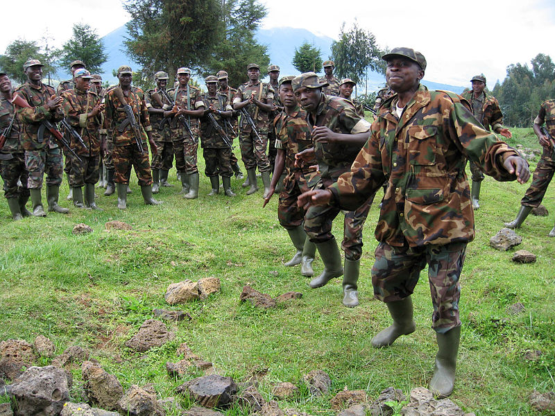 Photo Credit: S. Moumtzis/USAID. Rwanda: A group of soldiers at their