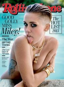 Miley Cyrus on the cover of Rolling Stone Magazine