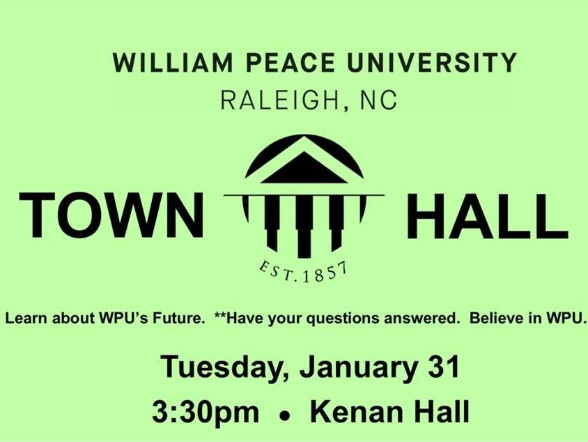 WPU Town Hall poster