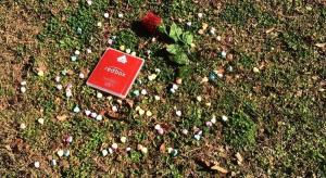 Valentines card, candy, and rose on the ground