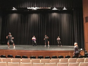 WPU theater students on stage at Keenan Hall
