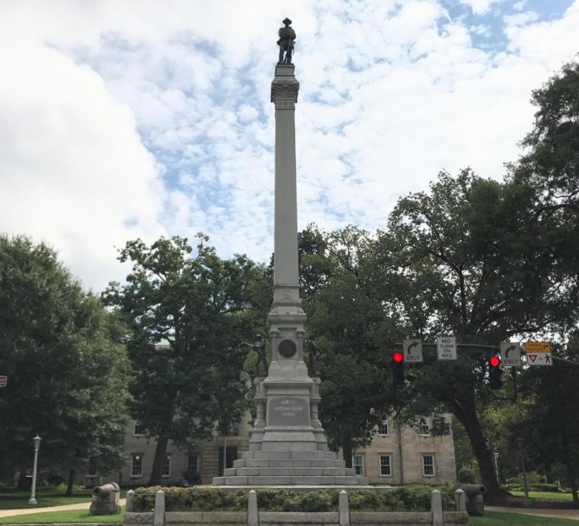 Confederate monument on the grounds of the State Capitol