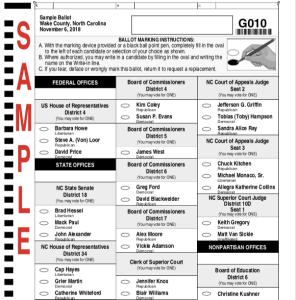 Sample Ballot of Midterm Election