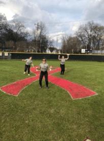 William Peace University softball team on the field