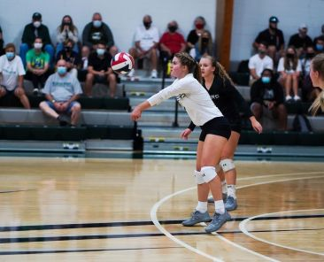 The Pacers volleyball team split has a 3-2 record so far this season. Photo courtesy of WPU Athletics