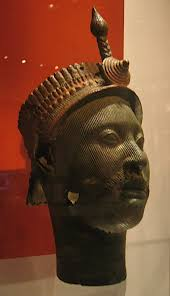ancient African head with crown