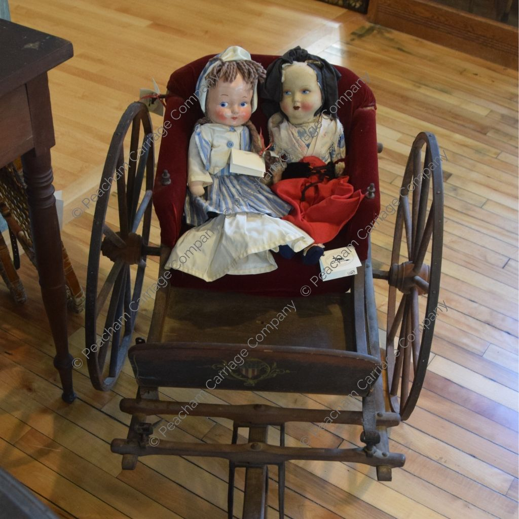 Antique Child's Cart with Dolls