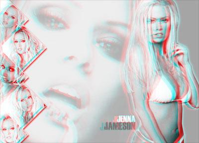 Jenna Jameson en 3D - Como realizar Anaglifos con Photoshop